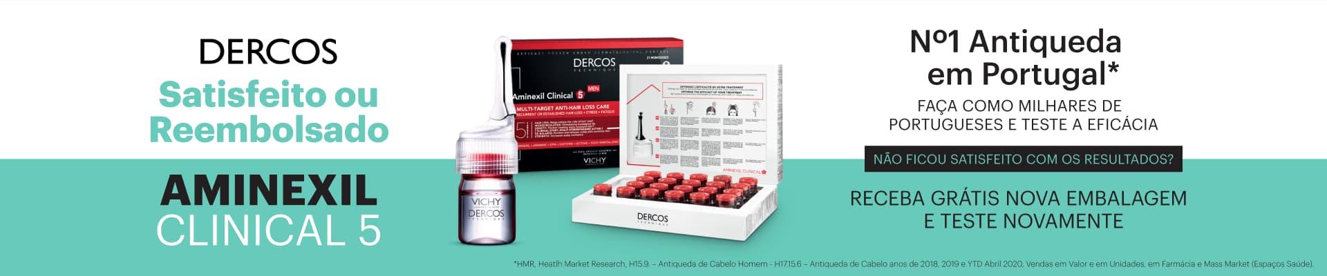Dercos Aminexil Clinical - Satisfeito ou Reembolsado
