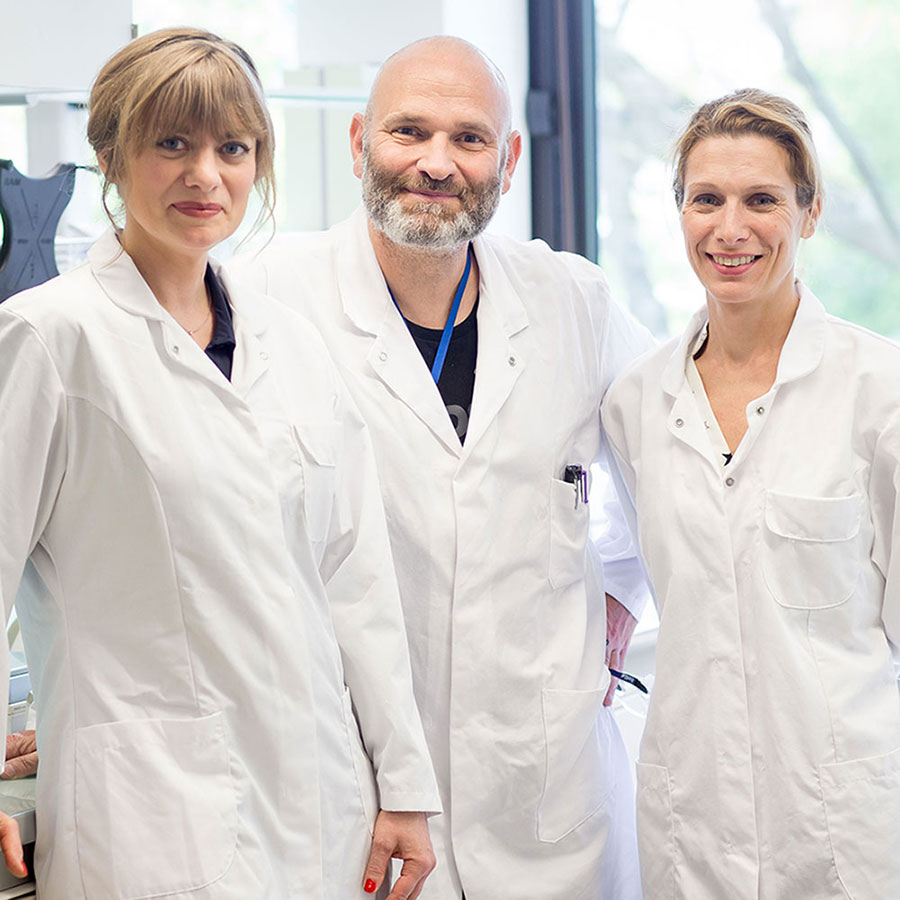 Vanessa, Aldo and Severine - In charge of Liftactiv, Slow-age, and Neovadiol